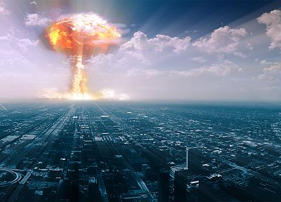 Chicago, bombs, atomic, west, nuclear explosions - random desktop wallpaper