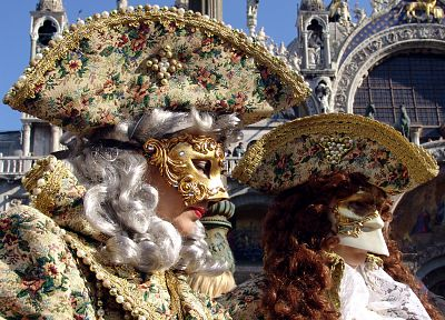 costume, Venice, carnivals, hats, Venetian masks - random desktop wallpaper