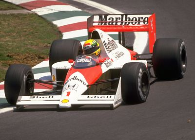 cars, Formula One, vehicles, Ayrton Senna, McLaren, Marlboro, 1989 - related desktop wallpaper