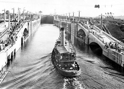 ships, vehicles, historic, canal, old photography - random desktop wallpaper