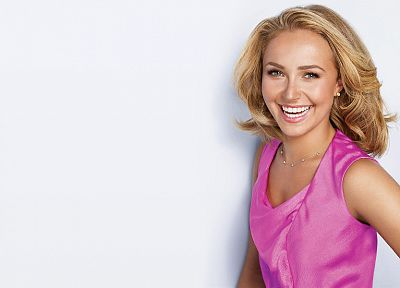 blondes, women, actress, Hayden Panettiere, models, celebrity, white background - desktop wallpaper