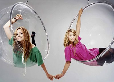 women, models, Olsen Twins, Mary Kate Olsen - random desktop wallpaper