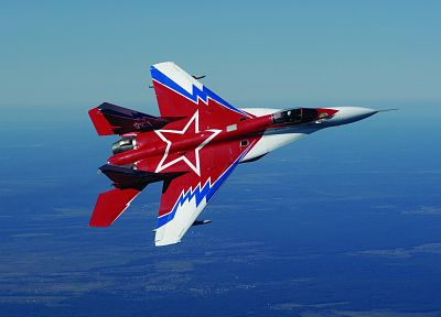 MIG-29 Fulcrum, aerobatics, aerobatic teams, Strizhi aerobatic team, fighter jets, Russians - related desktop wallpaper