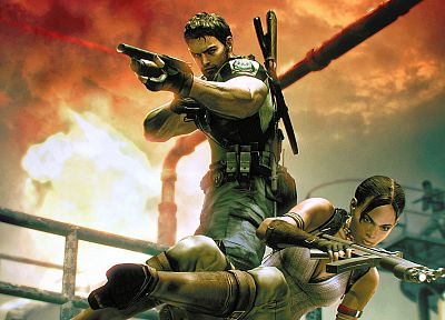 Resident Evil, Chris Redfield, Sheva Alomar - random desktop wallpaper