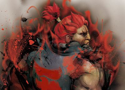 video games, Street Fighter, Akuma - duplicate desktop wallpaper