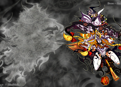 blondes, Touhou, Kirisame Marisa, witches - desktop wallpaper