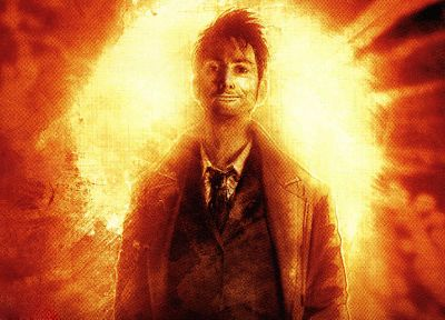 orange, David Tennant, Doctor Who, Tenth Doctor - desktop wallpaper