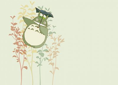 Hayao Miyazaki, Totoro, My Neighbour Totoro, simple background - desktop wallpaper