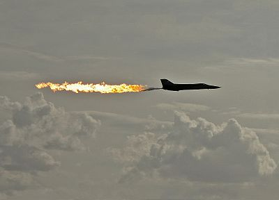aircraft, military, fire, fuel, planes, F-111 Aardvark - desktop wallpaper