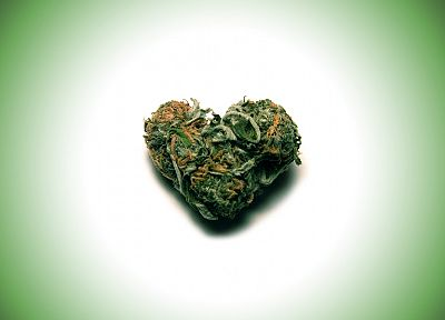 green, love, drugs, marijuana, hearts - desktop wallpaper