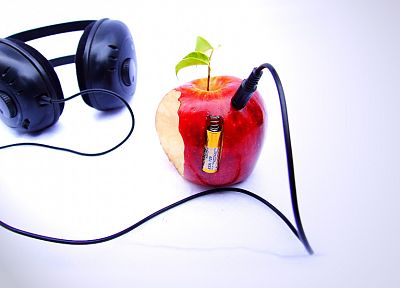 headphones, Apple Inc., iPod, funny - related desktop wallpaper