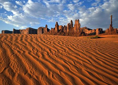 sand, tribal, Arizona, Utah, Monument Valley, parks, pole, rock formations - desktop wallpaper