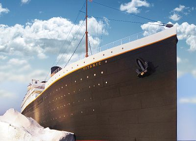 ships, Titanic, icebergs, vehicles - related desktop wallpaper