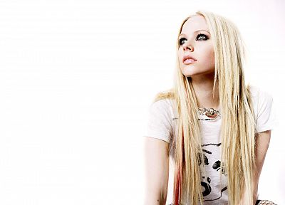 women, Avril Lavigne, simple background - desktop wallpaper
