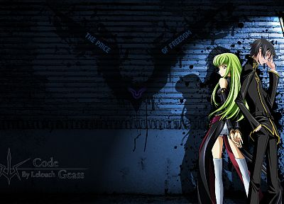 Code Geass, Lamperouge Lelouch, C.C. - desktop wallpaper