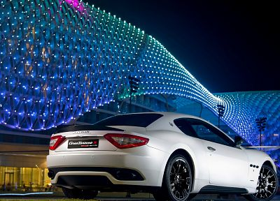 cars, Maserati, vehicles, white cars - desktop wallpaper