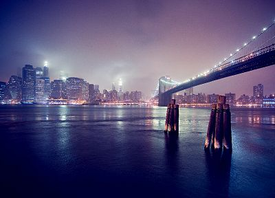 cityscapes, Brooklyn Bridge, New York City - random desktop wallpaper