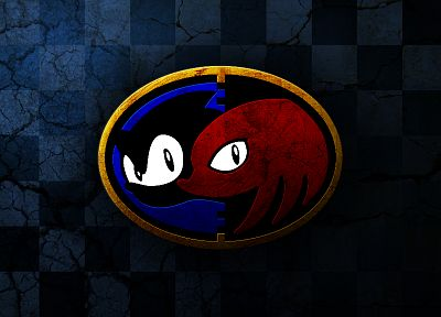 Sonic the Hedgehog, video games, Sega Entertainment, Knuckles the Echidna - related desktop wallpaper