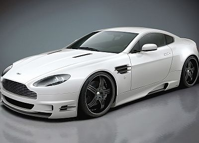 cars, Aston Martin, vehicles, white cars, Aston Martin V8 Vantage, Premier4509 - desktop wallpaper