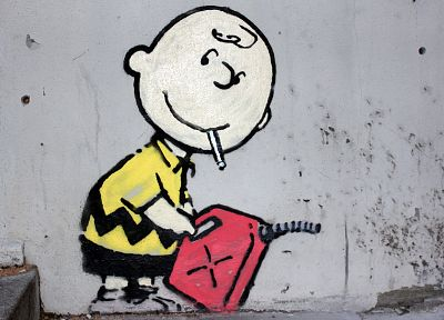 street art, Charlie Brown, Peanuts (Comic Strip) - random desktop wallpaper