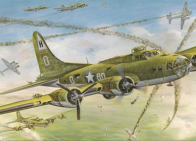 aircraft, World War II, artwork - random desktop wallpaper