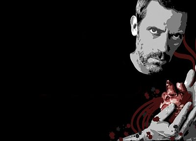 Hugh Laurie, hearts, Gregory House, House M.D. - desktop wallpaper