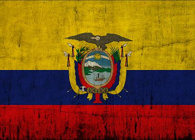 flags, Ecuador - desktop wallpaper