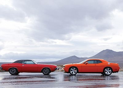 cars, muscle cars, Dodge, Challenger SRT - random desktop wallpaper