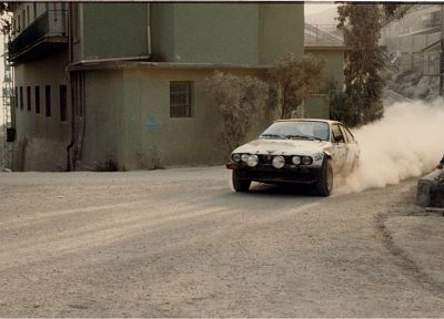 dust, rally, racing, Alfa Romeo GTV, races, rally cars, gravel, racing cars, rally car - random desktop wallpaper