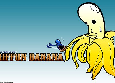 animation, bananas, anime, simple background - related desktop wallpaper