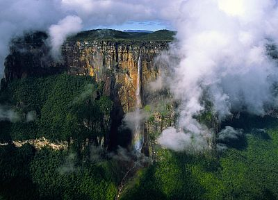 clouds, landscapes, venezuela, waterfalls - random desktop wallpaper