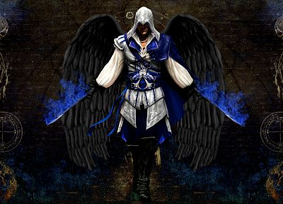 angels, video games, Assassins Creed, Altair Ibn La Ahad - random desktop wallpaper