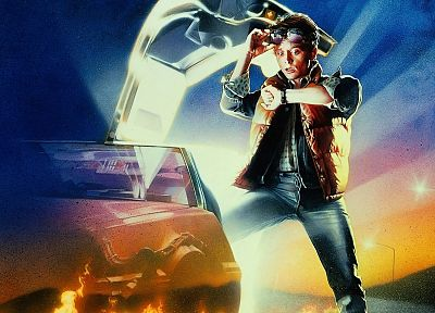 movies, Back to the Future, Michael J. Fox, Marty McFly - random desktop wallpaper