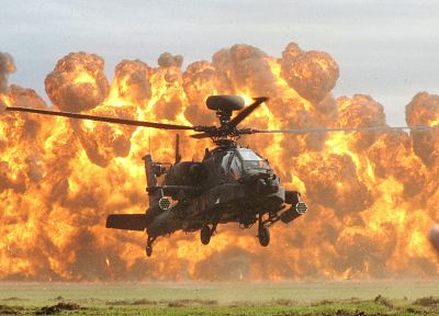 helicopters, explosions, vehicles - desktop wallpaper
