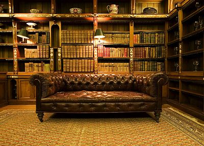 vintage, library, interior, furniture, interior design - random desktop wallpaper