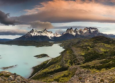 Chile, clouds, National Park, Paine - related desktop wallpaper