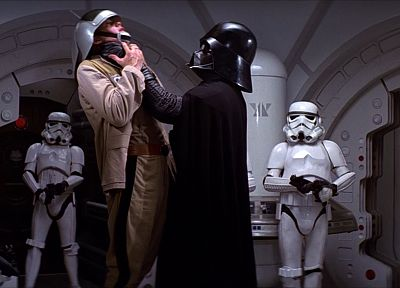Star Wars, stormtroopers, Darth Vader, choking victim - random desktop wallpaper