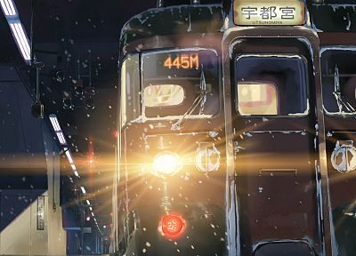 trains, Makoto Shinkai, 5 Centimeters Per Second - random desktop wallpaper