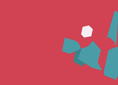 Pokemon, minimalistic, pink, vectors, Porygon - random desktop wallpaper