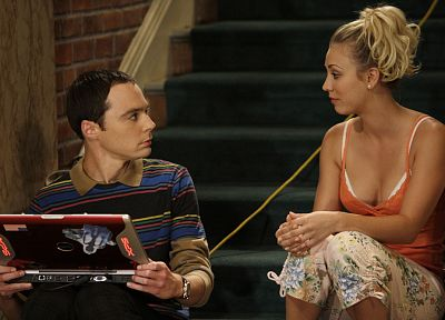 The Big Bang Theory (TV), Kaley Cuoco, Jim Parsons, Sheldon Cooper - random desktop wallpaper