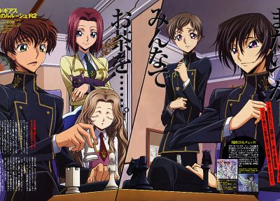 Code Geass, Kururugi Suzaku, Stadtfeld Kallen, Lamperouge Nunnally, Lamperouge Lelouch, Lamperouge Rolo - random desktop wallpaper