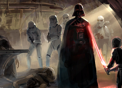 Star Wars, lightsabers, Darth Vader, Sith, dark side, concept art, artwork - related desktop wallpaper