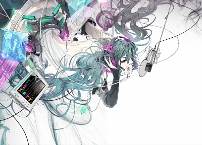 Vocaloid, Hatsune Miku, Miku Append, Vocaloid Append, detached sleeves - desktop wallpaper