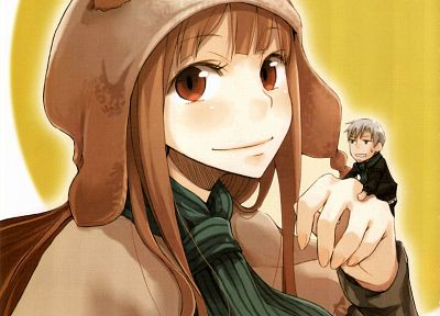 Spice and Wolf, animal ears, Craft Lawrence, Holo The Wise Wolf, anime girls - desktop wallpaper