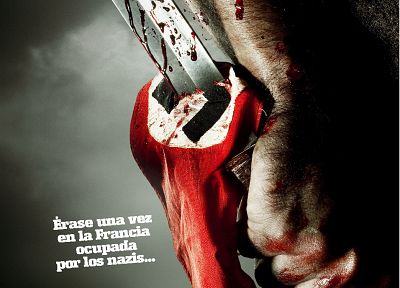 Spanish, knives, Quentin Tarantino, movie posters, Inglorious Basterds - random desktop wallpaper