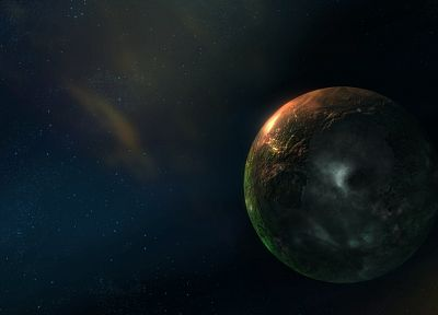 outer space, planets, digital art - related desktop wallpaper