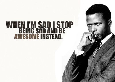 text, typography, Barney Stinson, slogan, awesomeness, Sidney Poitier - newest desktop wallpaper