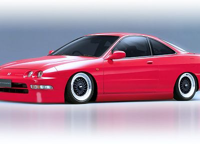 Honda, cars, DeviantART, digital art, tuning, Integra - random desktop wallpaper