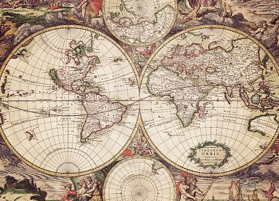 maps, world map, old map, cartography - related desktop wallpaper