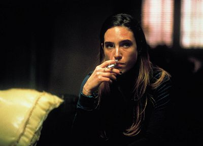 smoking, Jennifer Connelly, Requiem for a Dream, cigarettes - random desktop wallpaper